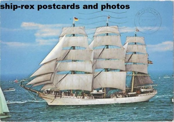 DANMARK (1933, sail training ship) postcard
